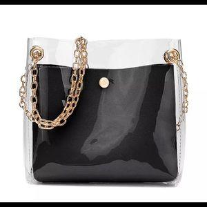 Black Transparent Shoulder Bag